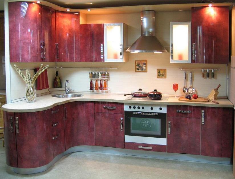 кухни из пластика образцы фото - фото 4
