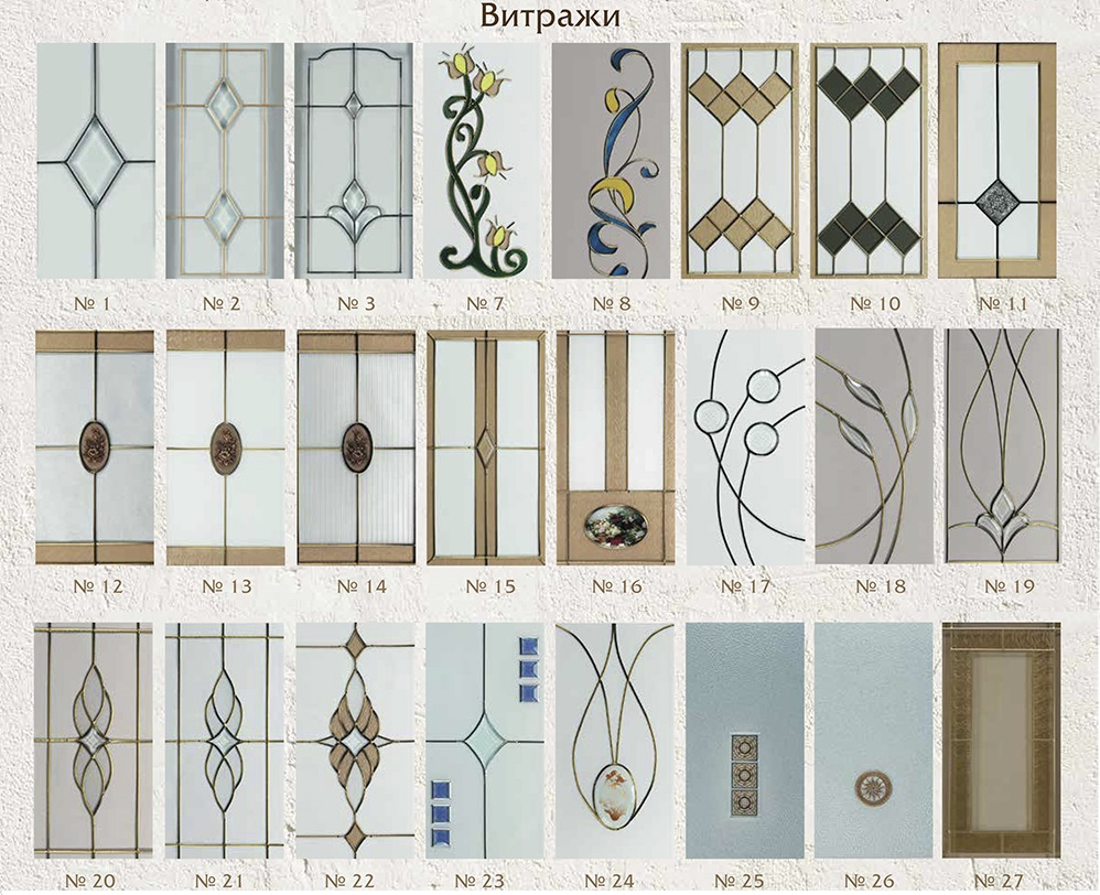 образцы витражей на стекле - фото 3
