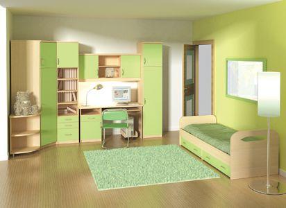 Салатовая детская комната фото